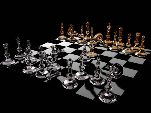 3D Chess Board Wallpaper
