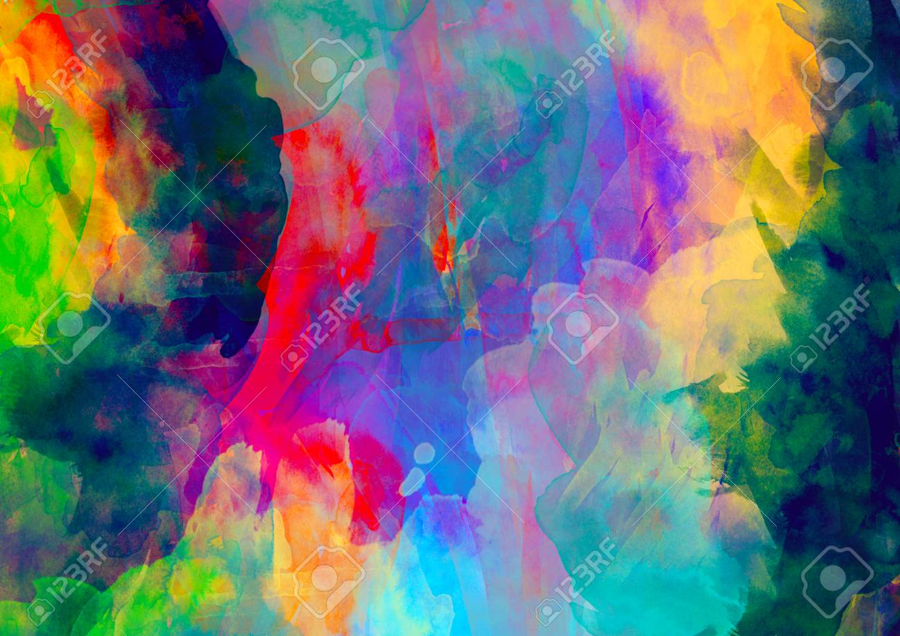 Colorful In Digital Painting Background Stock Photo Picture And 1300x919