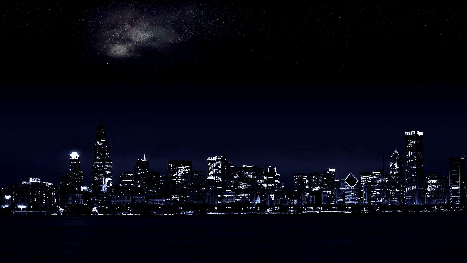 Dark City Background 1920x1080