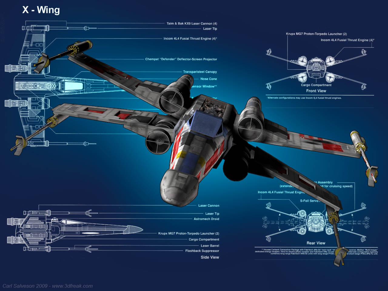 an X Wing a great little wallpaper to have on your laptop or PC 1280x960