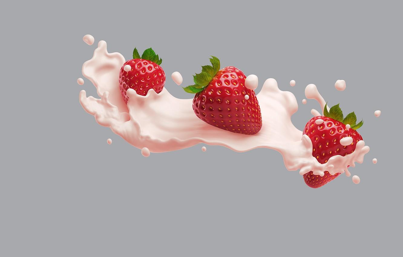 Wallpaper food minimalism cream art Victoria AJ Jefferies 1332x850