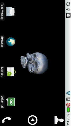 View bigger   3D Moving Skull Live Wallpaper for Android screenshot 288x512