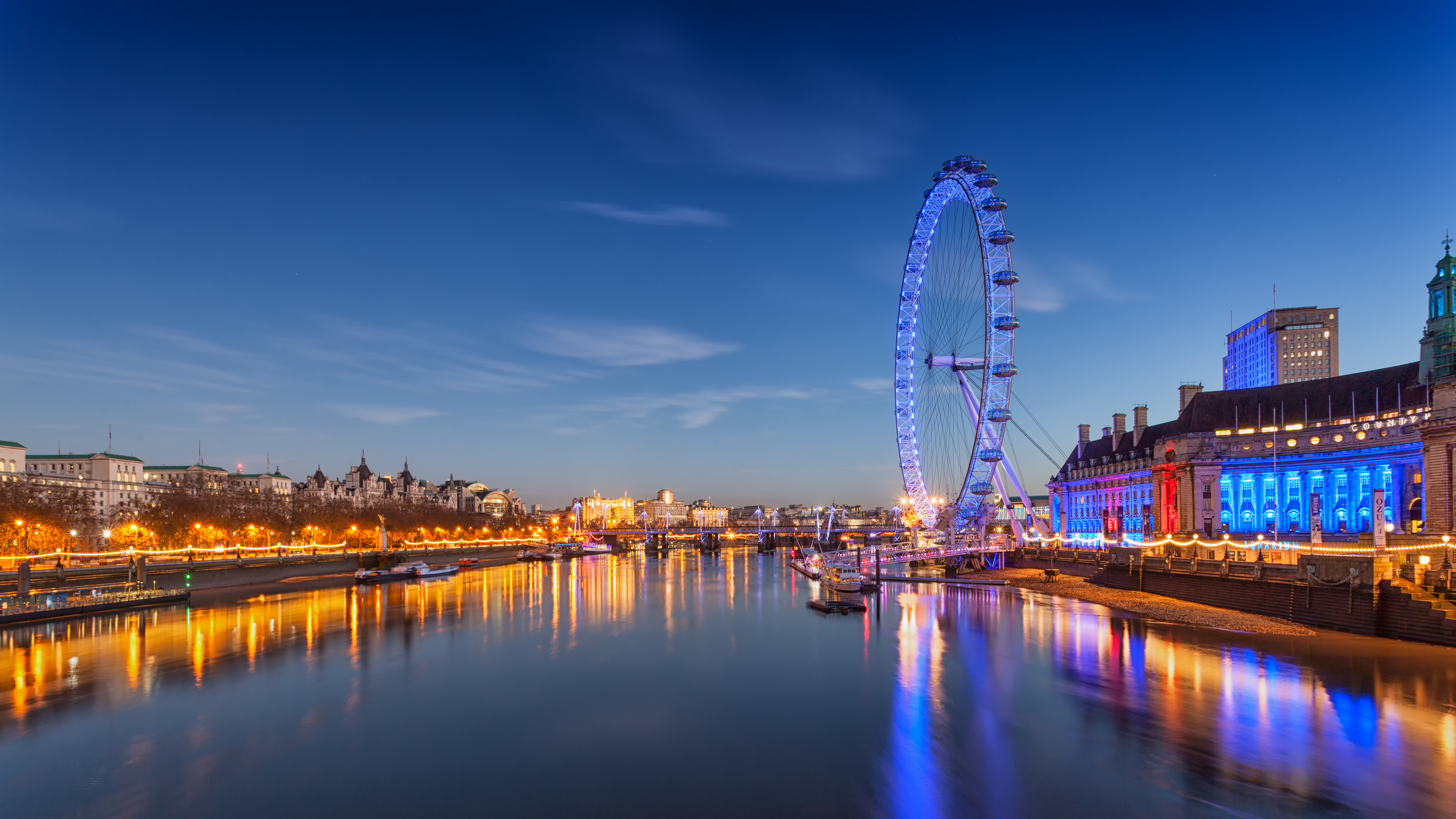 london eye twalight night ultrahd 4k wallpaper wallpaperupcom 3840x2160