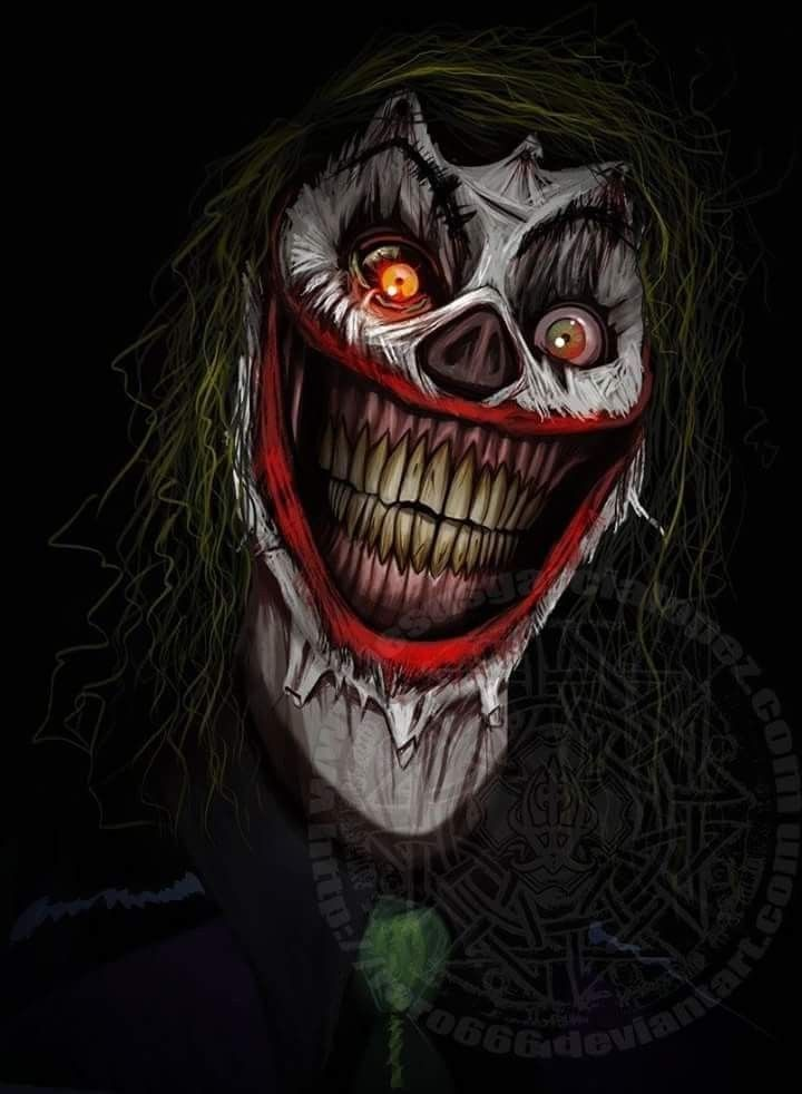 Creepy Psychotic Clown   The Joker is extremely dangerously and 720x982
