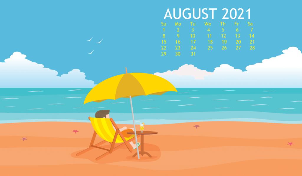 August 2021 Wallpaper Calendar wallpaper Desktop calendar 1024x598