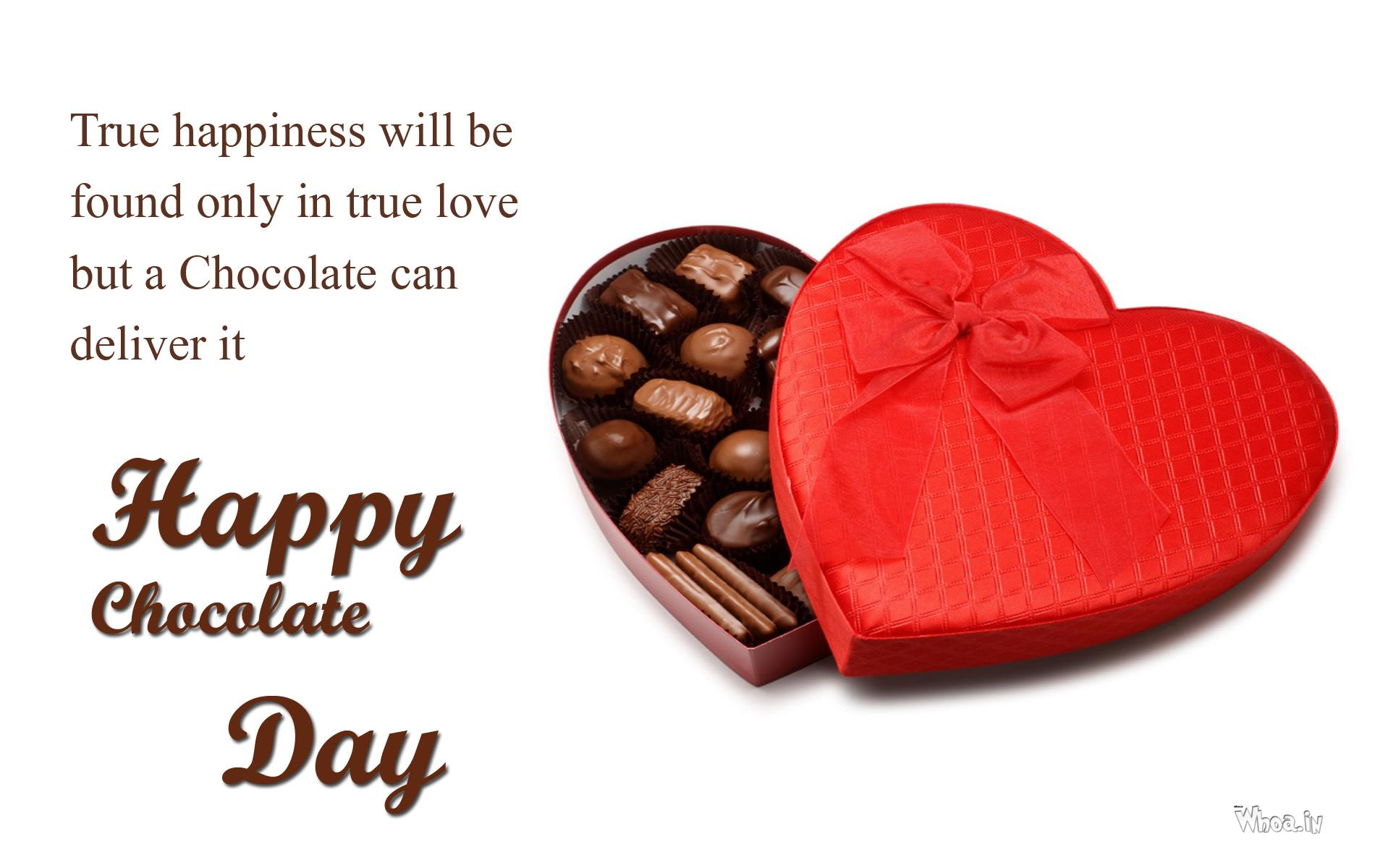Chocolate Day Wallpaper With Heart Chocolate Box 1900x1200