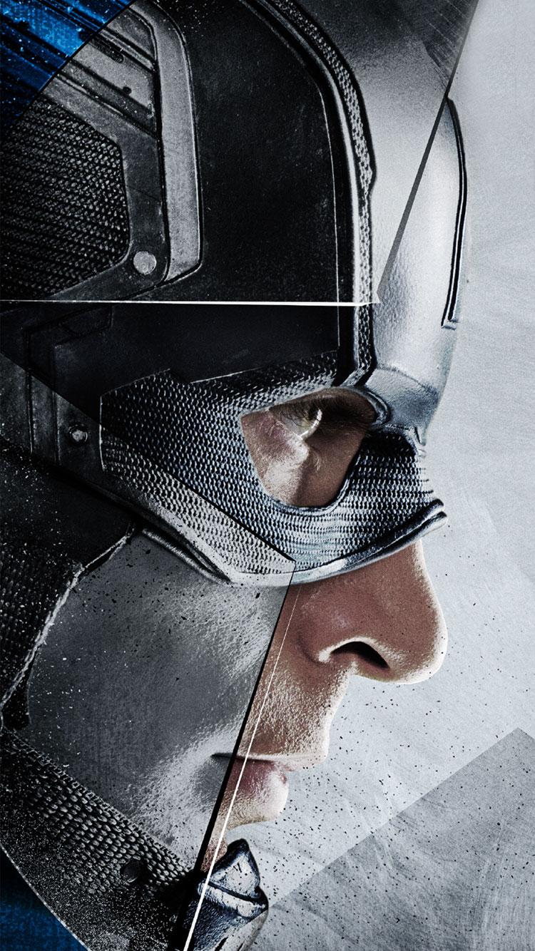 Marvels Captain America Civil War 2016 Captain Ameria  iPhone 750x1334