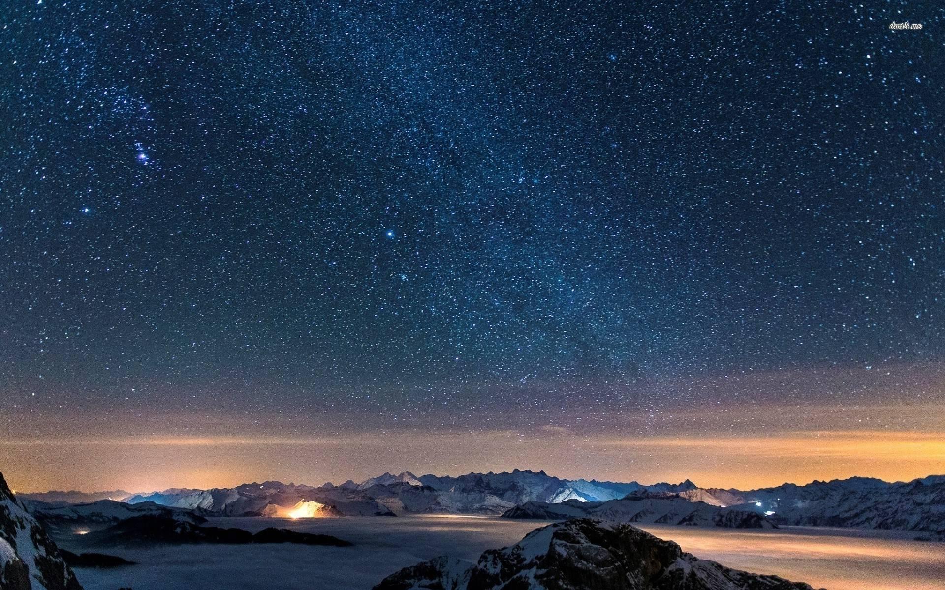 Starry Night Sky Wallpapers 1920x1200