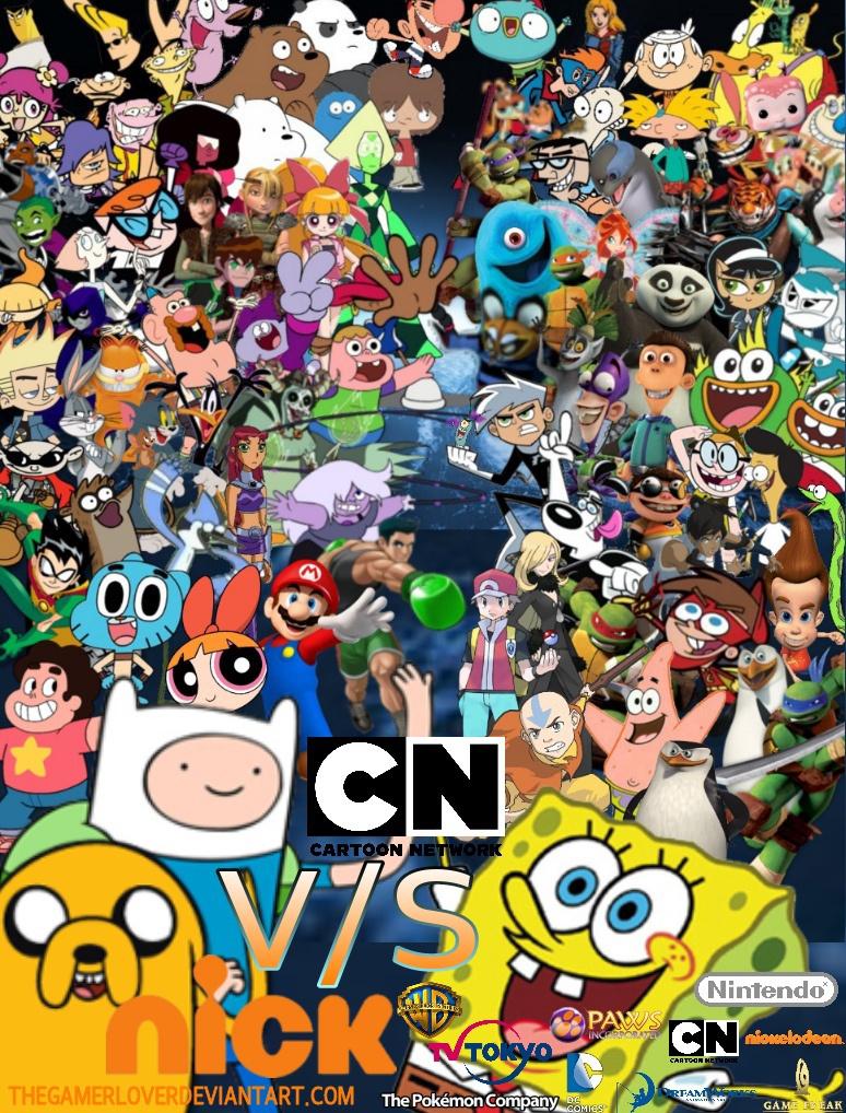 Cartoon Network vs Nick Wallpaper by TheGamerLover on 774x1018