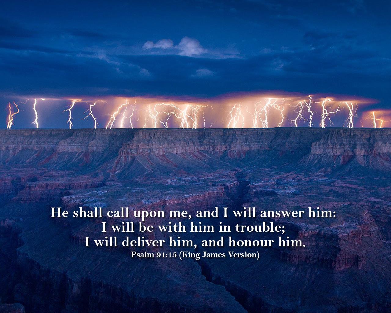 kjv psalm 9115 wallpaperjpg 1280x1024