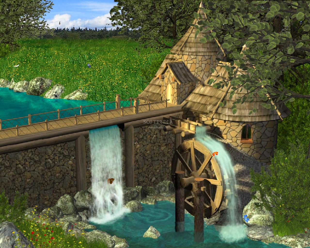 Animated Waterfall Wallpaper 1280x1024