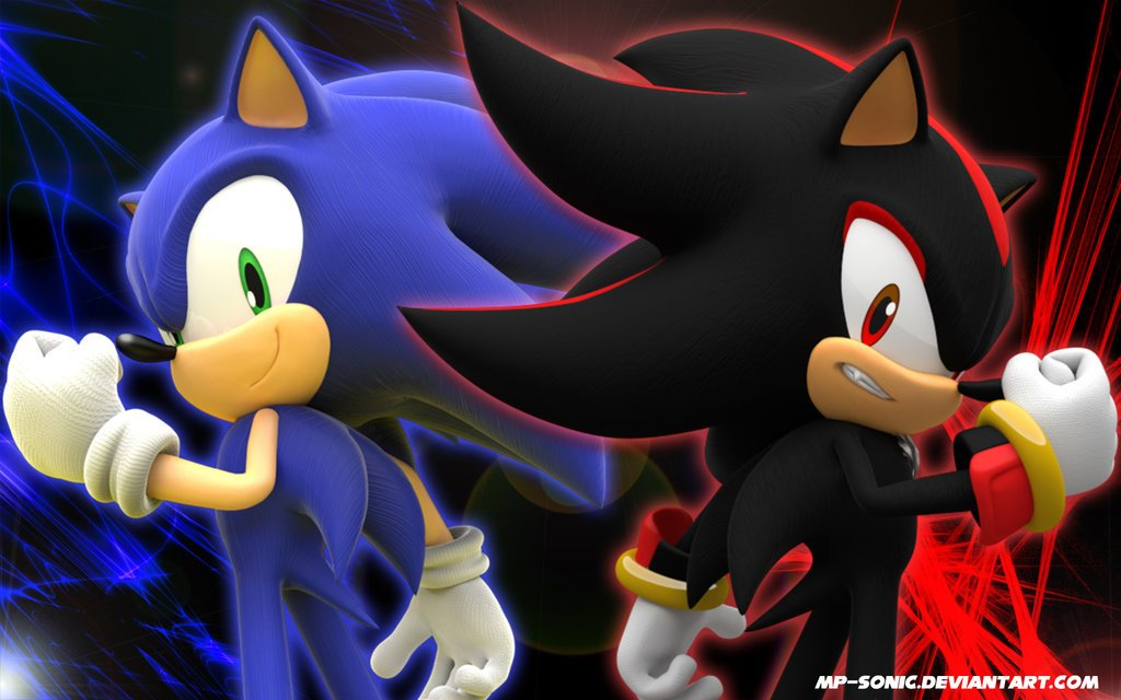 Free Download Sonic And Shadow Wallpaper By Mp Sonic