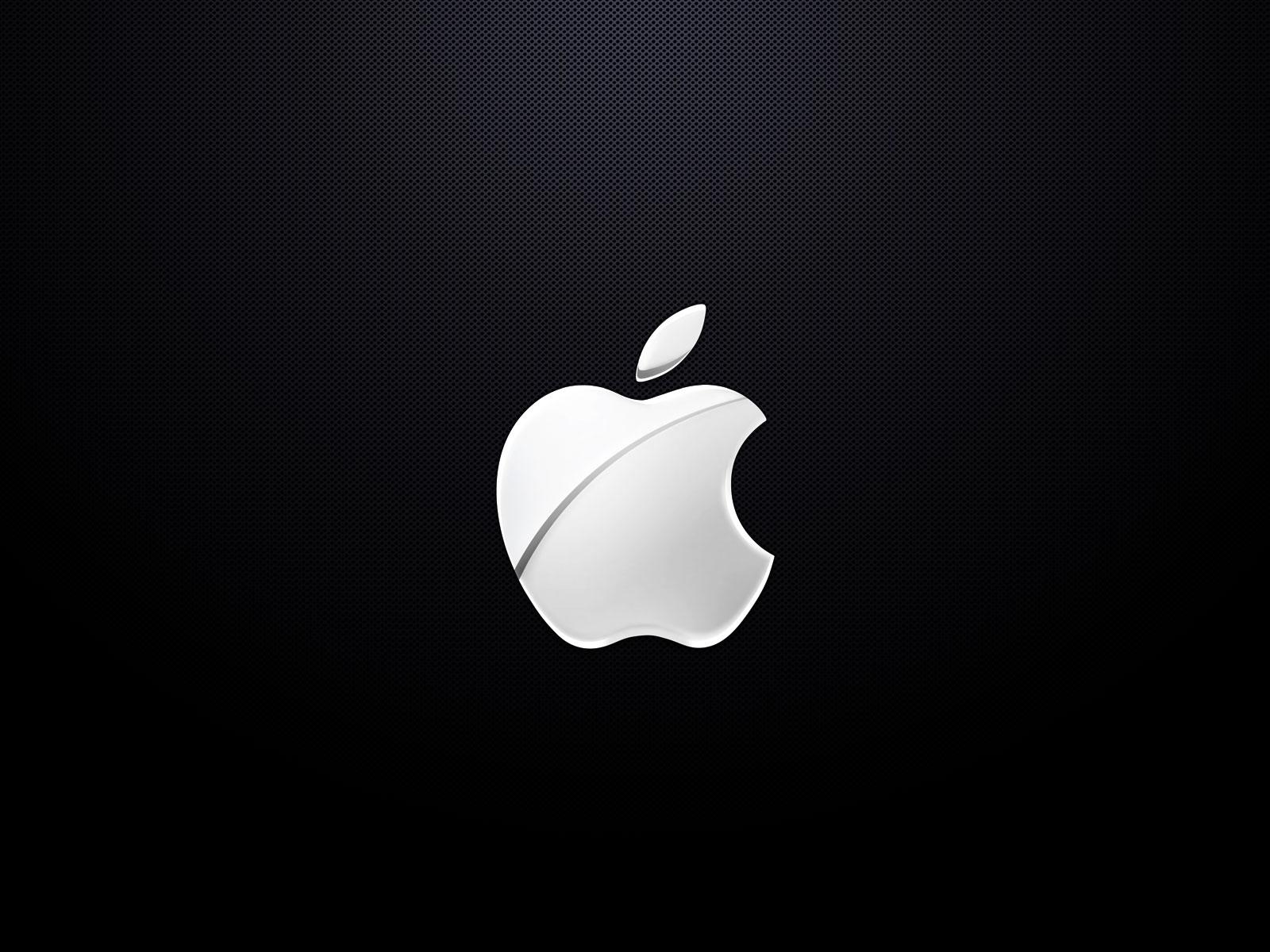 white apple logo wallpaper 1600x1200