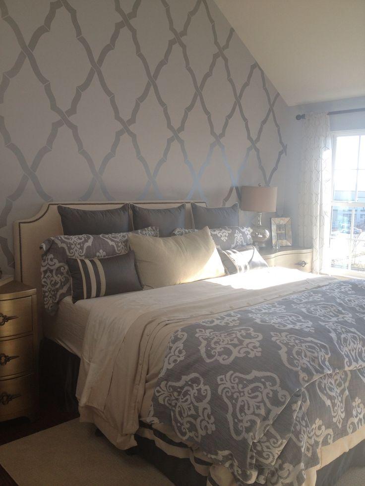 Feature wallpaper for bedroom Devine Interiors 736x981