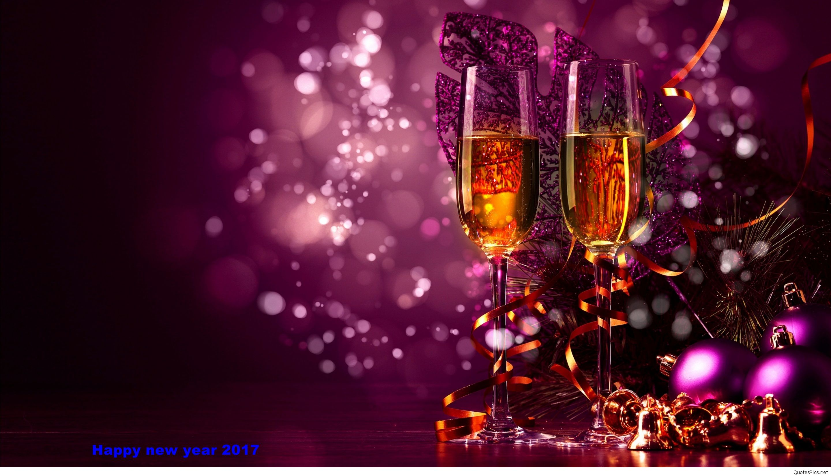 Happy new year cards pictures champagne 2017 2880x1650