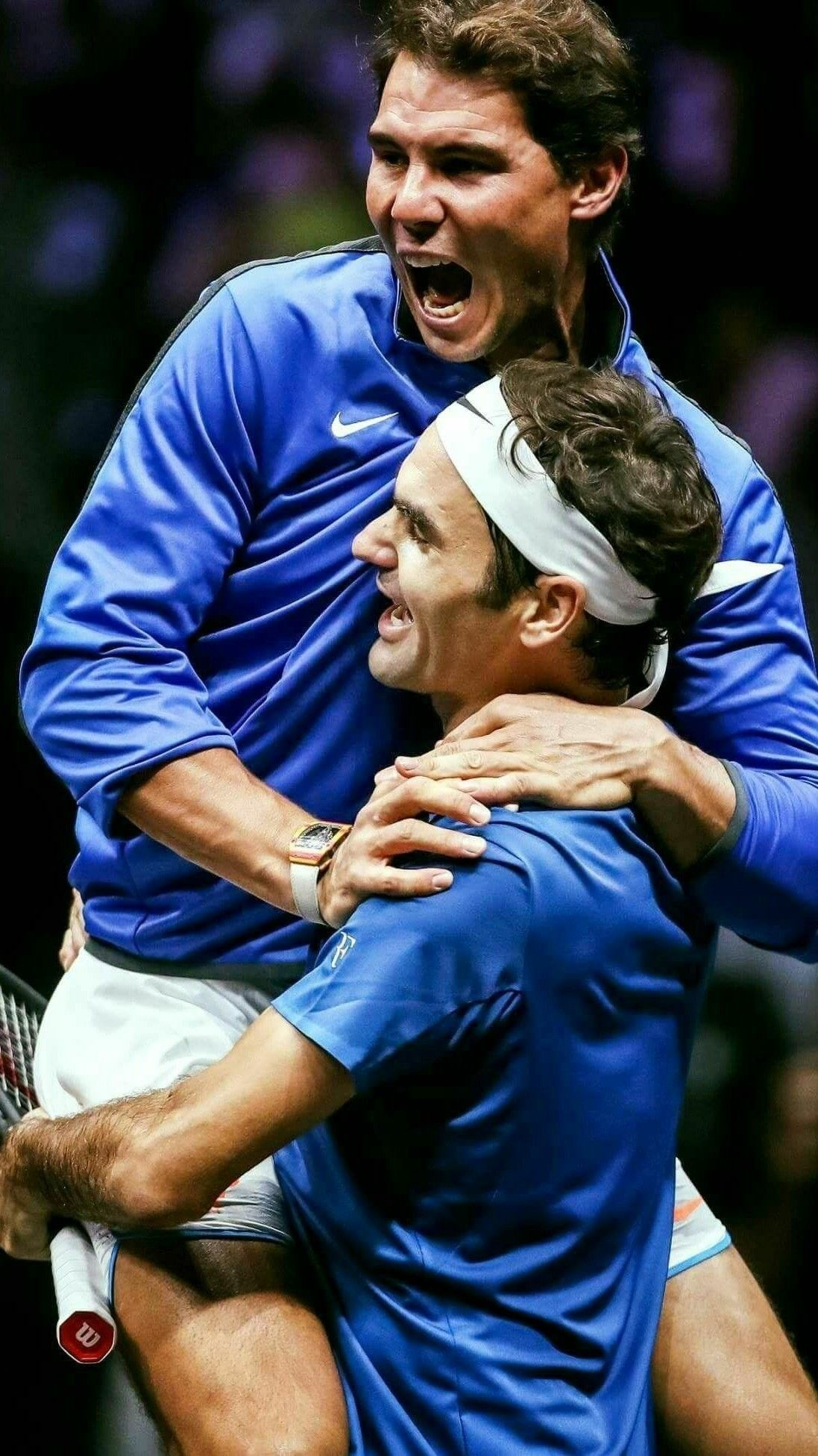 Rafael Nadal and Roger Federer wallpaper Tennis Nadal tennis 1097x1951