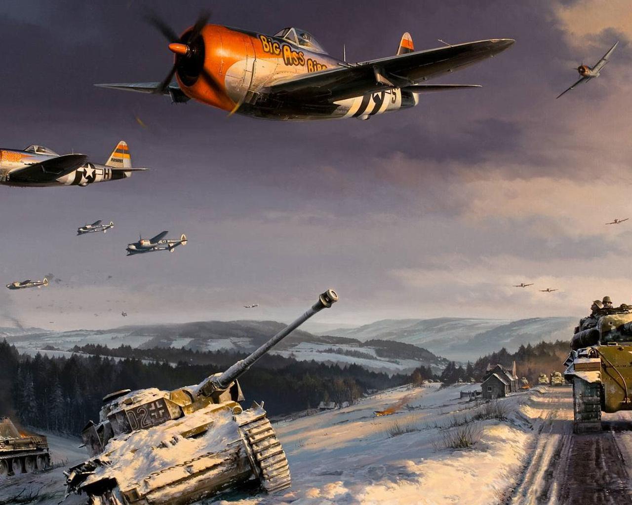 1280x1024 the battle of the ardennes world war ii thunderbolt 1280x1024