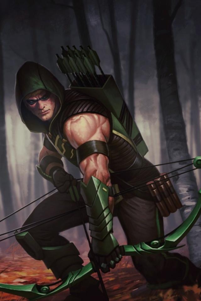 Green Wallpaper Arrow Wallpaper Iphone Green 640x960