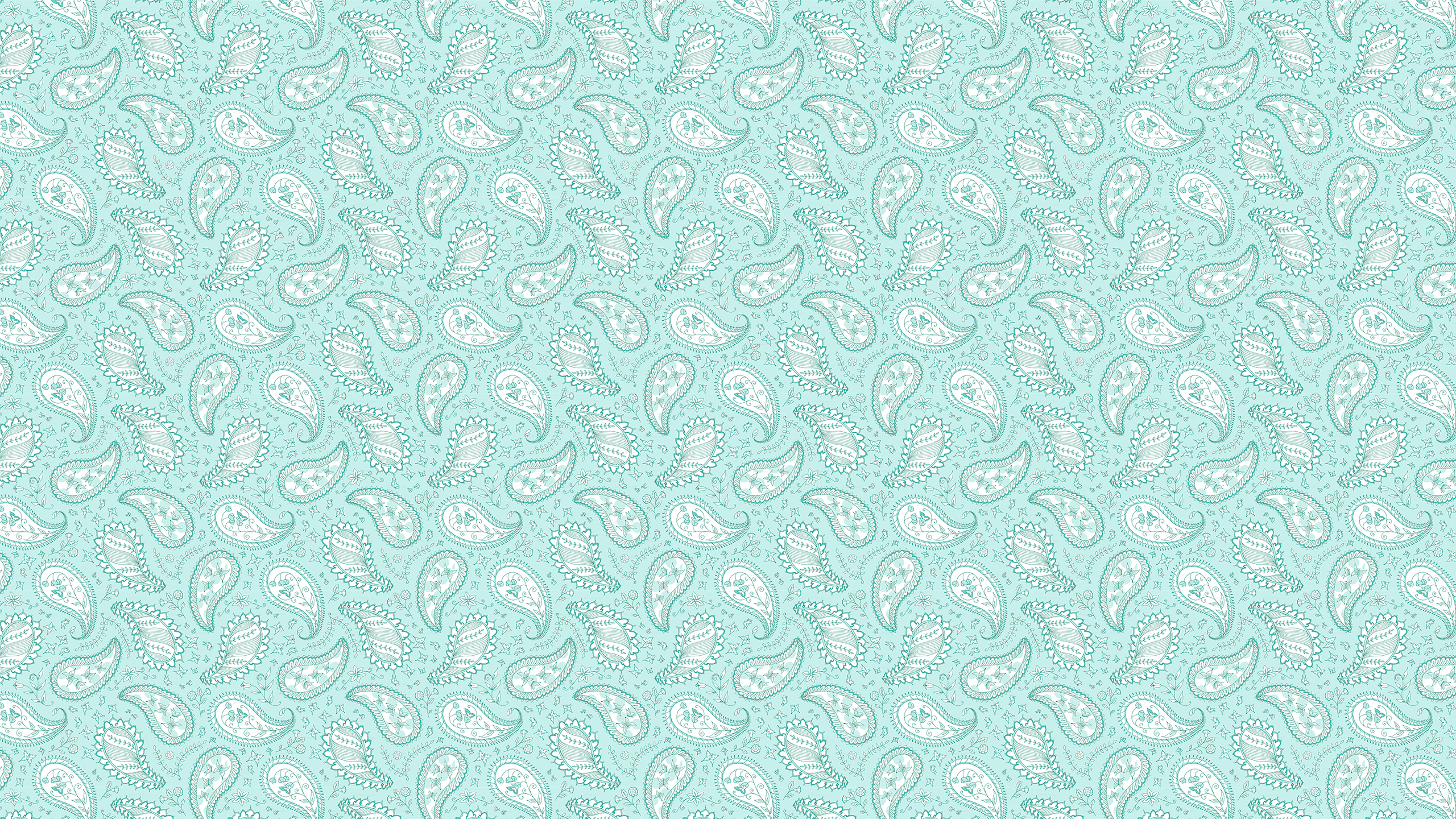 This Teal Paisley Desktop Wallpaper Is Easy Just Save The 2560x1440