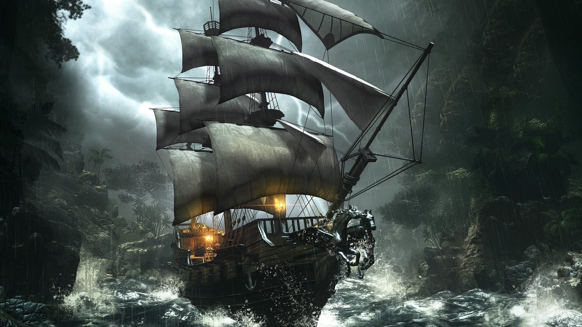 Pirate Ship Wallpaper 82 images 1920x1080