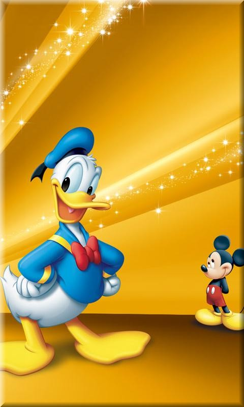disney cell phone wallpaper on Disney Duck And Mouse Mobile Phone 480x800