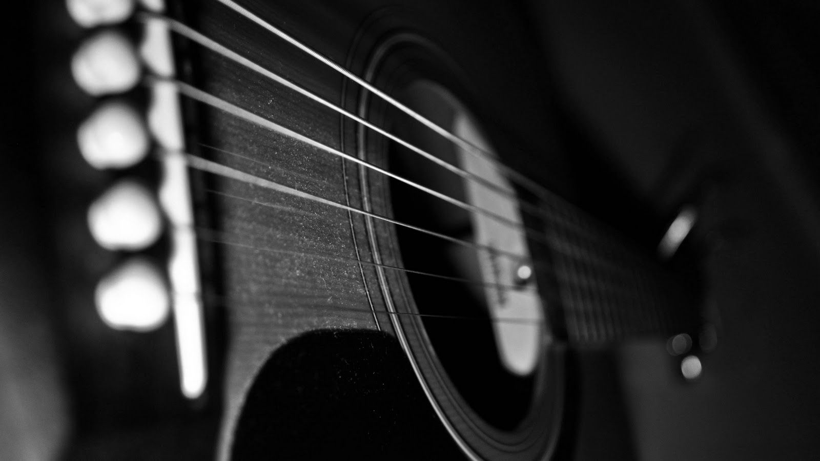 Wallpapers For Black Acoustic Guitar Wallpaper Hd 1600x900