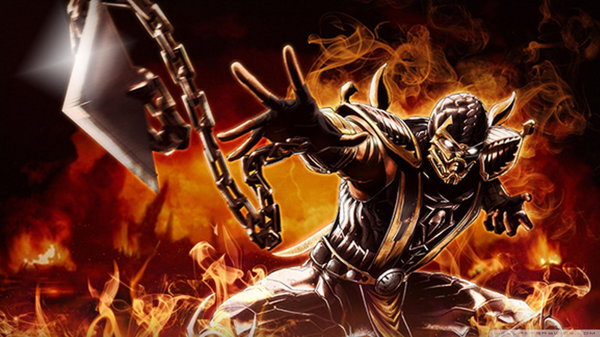 67 Mortal Kombat Wallpaper Scorpion On Wallpapersafari