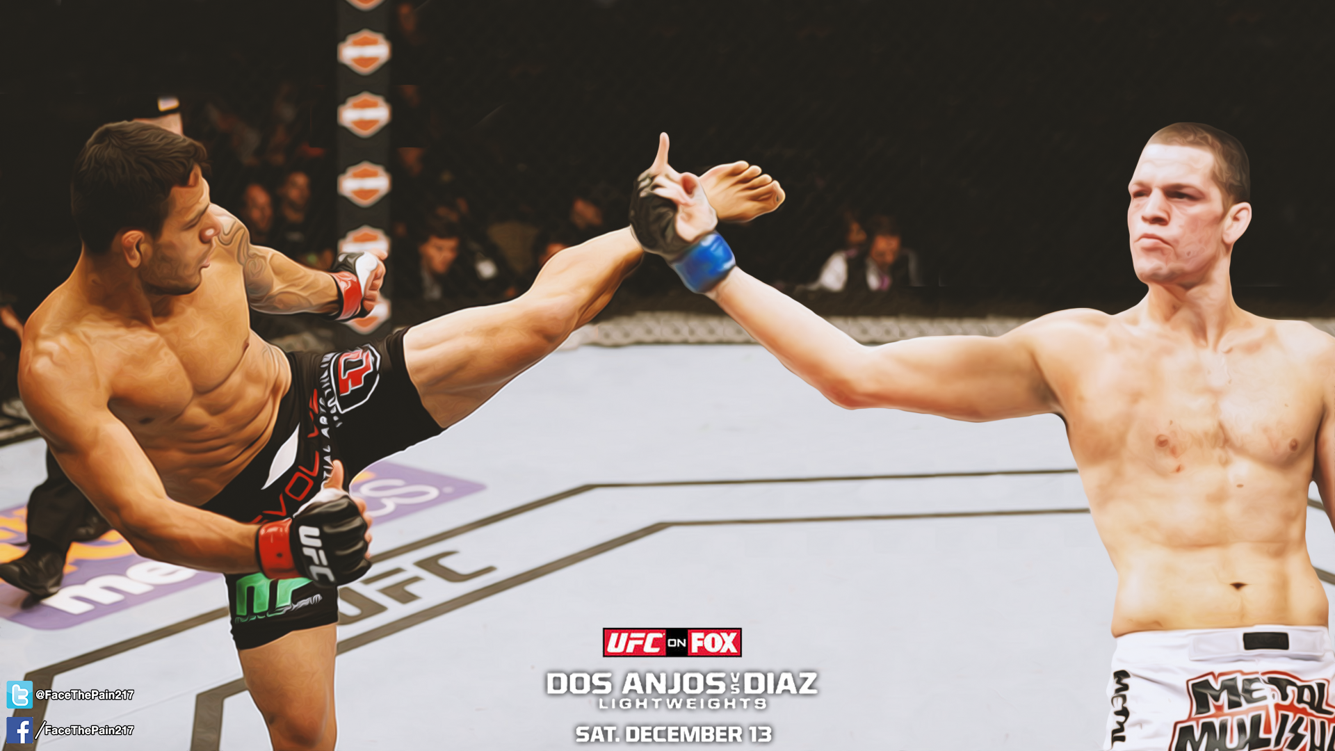 Made this wallpaper for RDA vs Nate tomorrow should be a good one 1920x1080