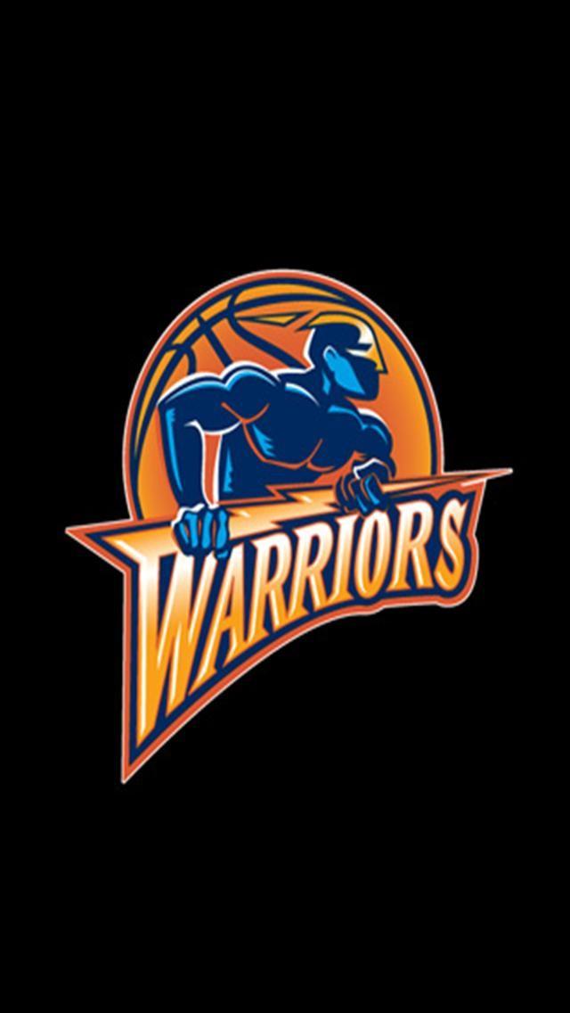 Golden State Warriors Black LOGO iPhone Wallpapers iPhone 5s4s 640x1136
