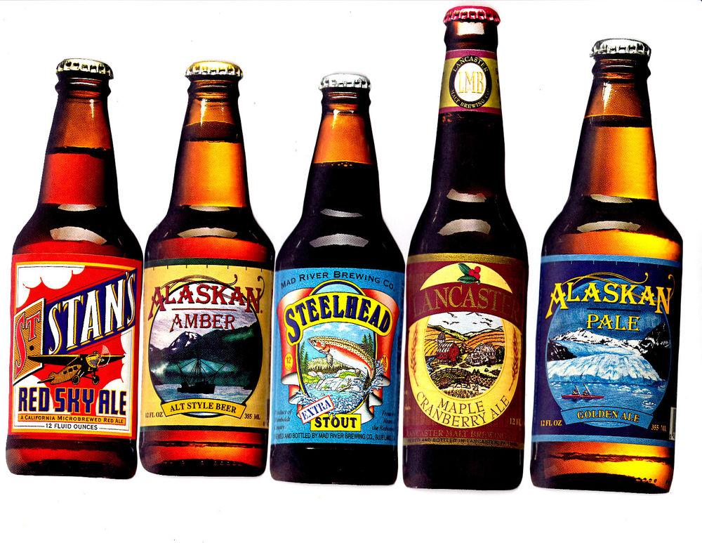 Beer Bottles Ale Bar Decor Kitchen Set Prepasted Wallpaper Border 1000x773