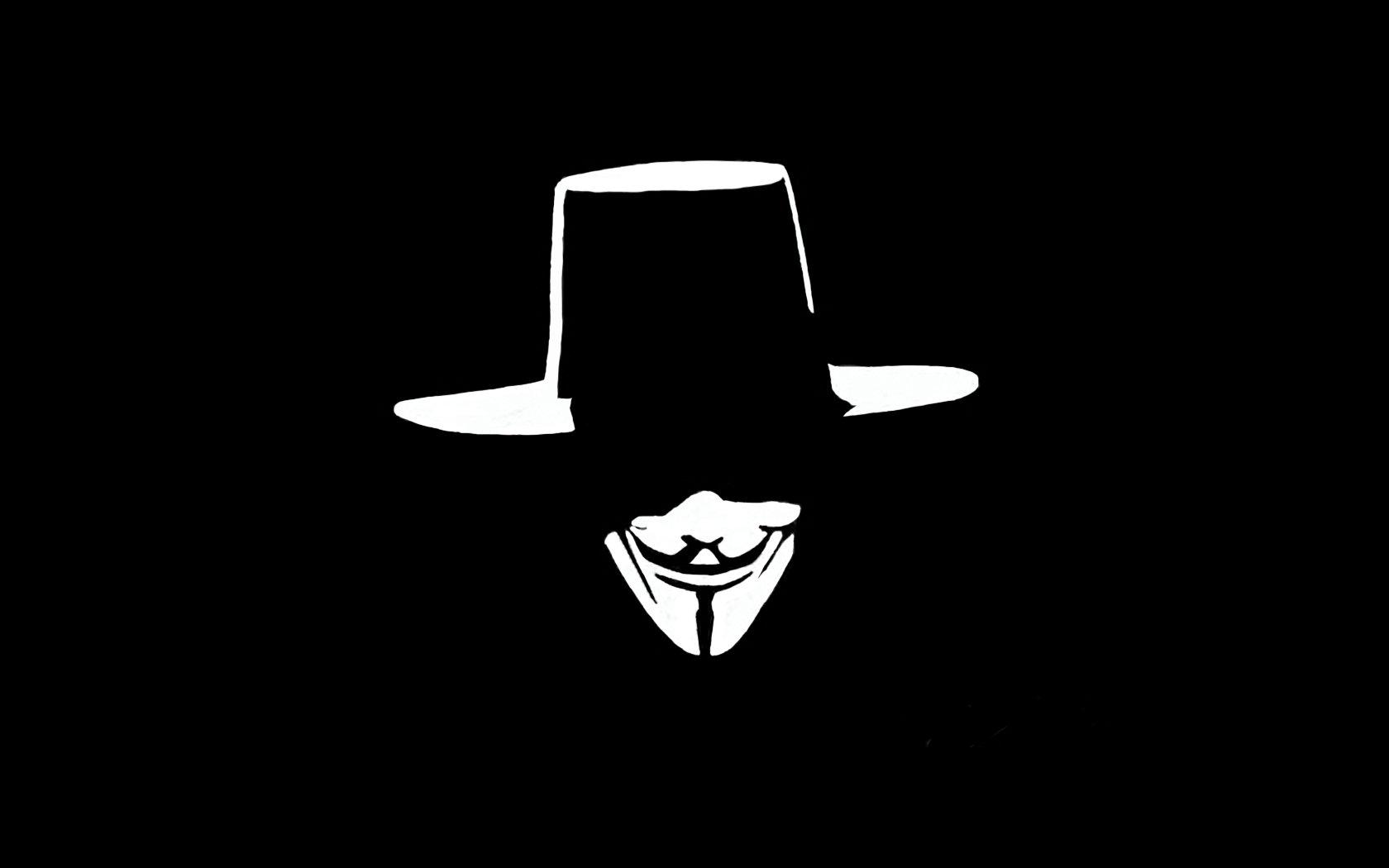 Anonymous V Wallpaper 1680x1050 Anonymous V For Vendetta 1680x1050