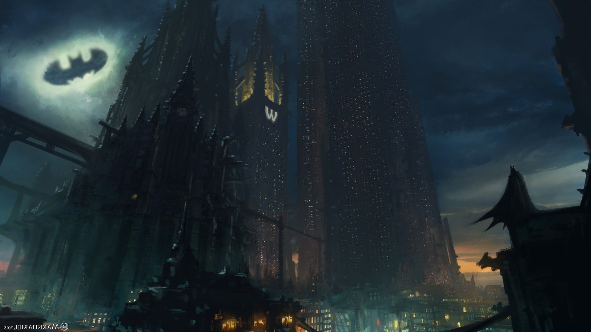 5 Gotham City HD Wallpapers and Background Images Download for 1920x1080