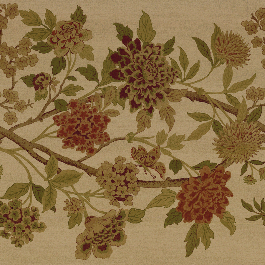 Green Large Floral Trail Prepasted Wallpaper Border at Lowescom 900x900