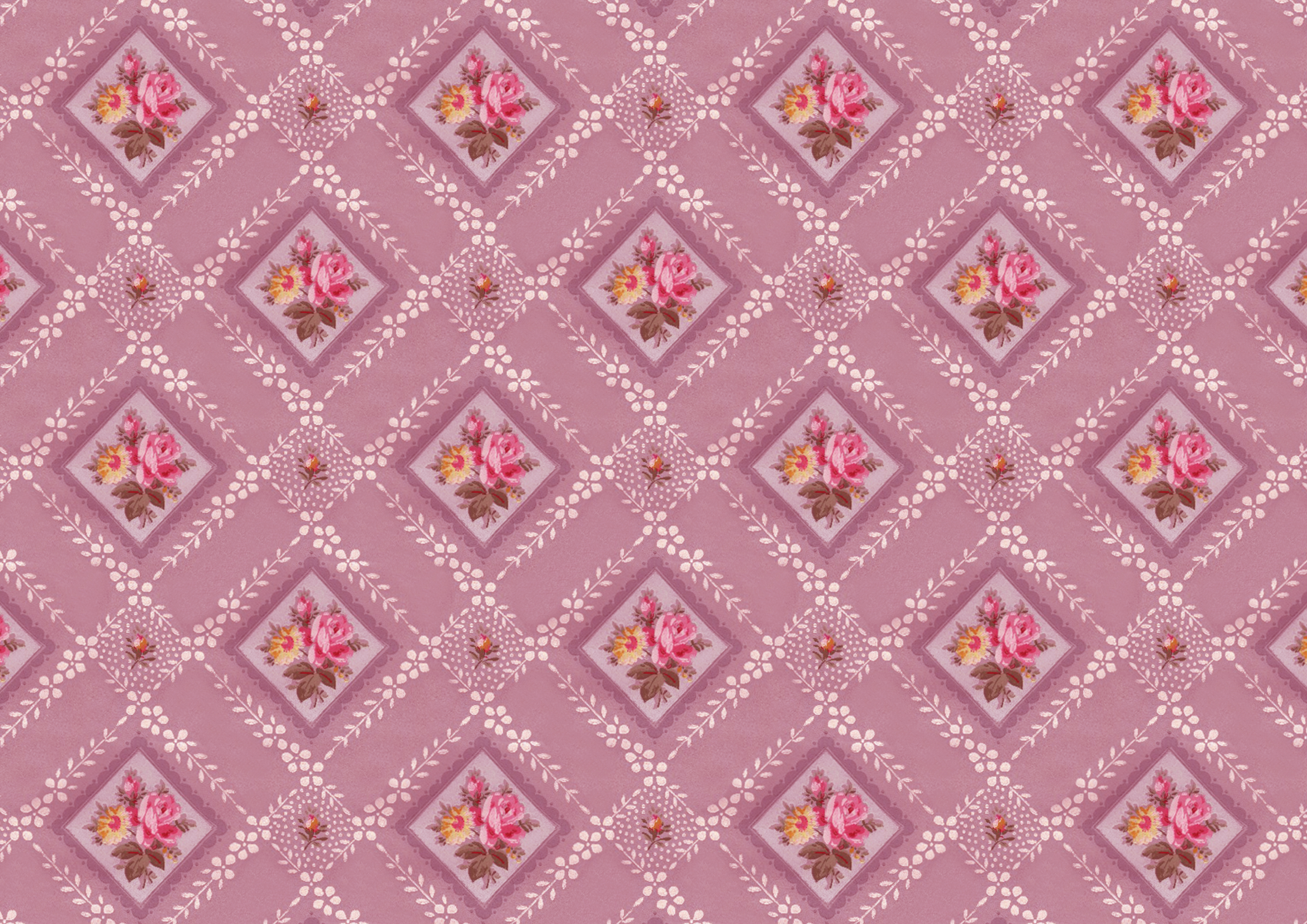 Vintage Floral Wallpaper Pattern And Printable Paper 3508x2480