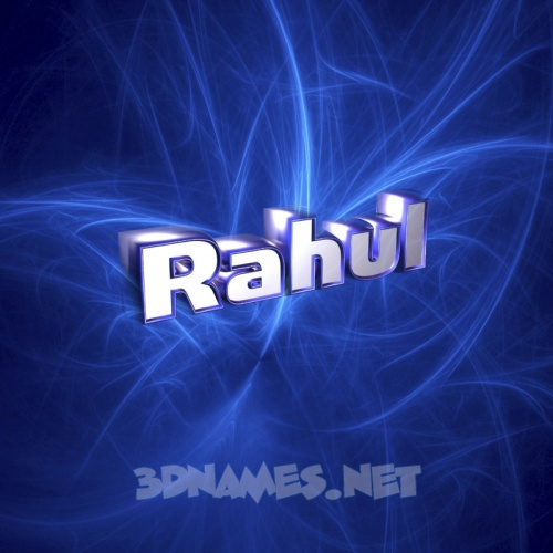 17 3D Name wallpaper images for the name of RAHUL 500x500