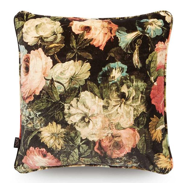 Midnight Garden velvet cushion 75 by House of Hackney 620x608