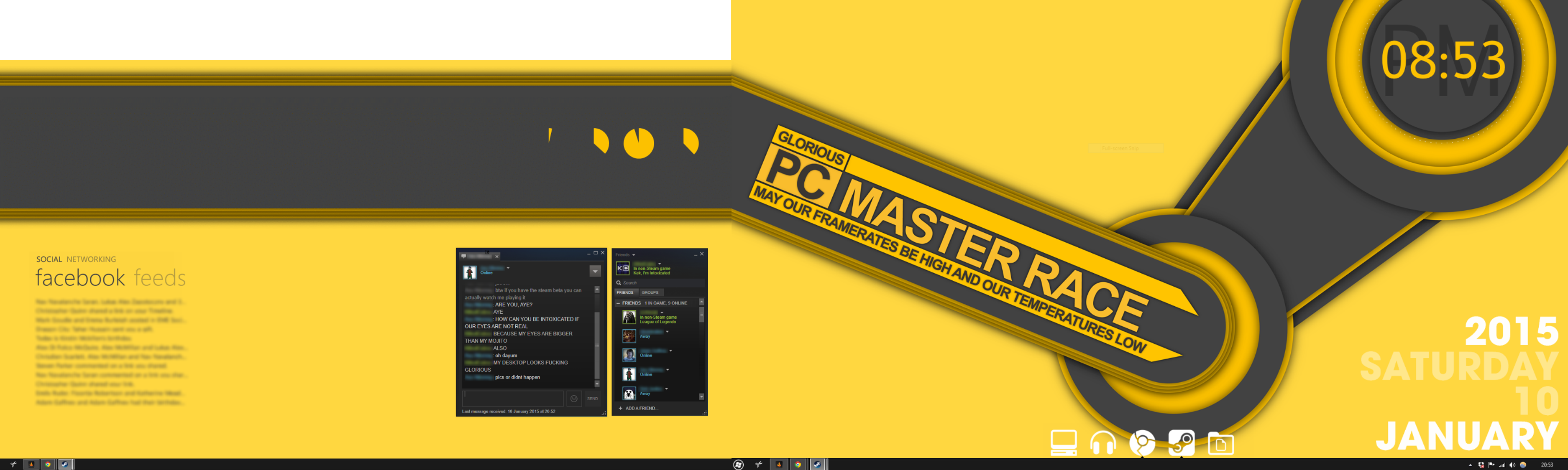 Seen a wonderful wallpaper posted to PCMR creativity got the better 3749x1125