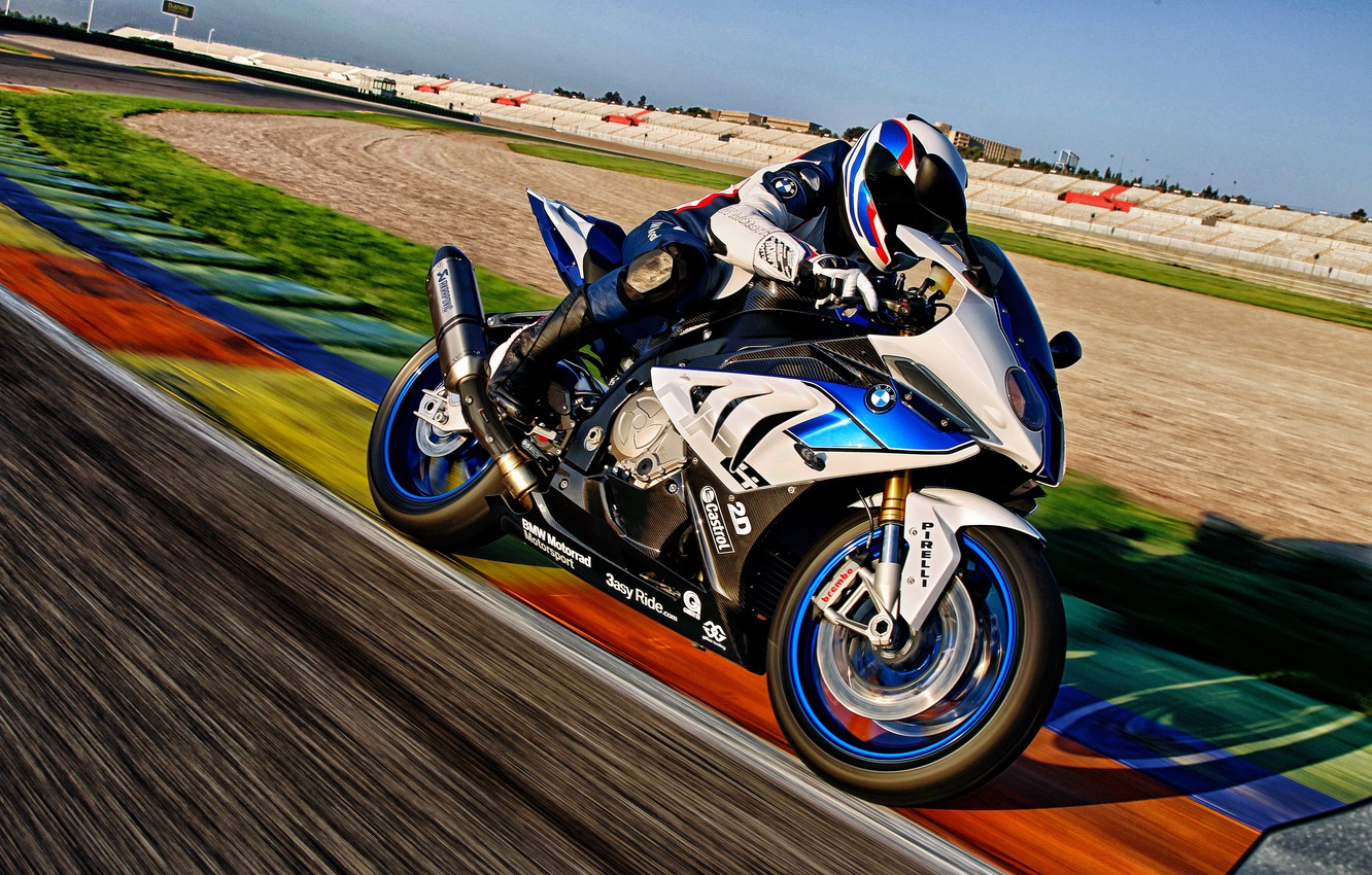 Wallpaper sport BMW track BMW motorcycle HP4 images for 1332x850