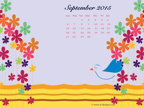 monthly calendar desktop wallpaper 2015 500x375