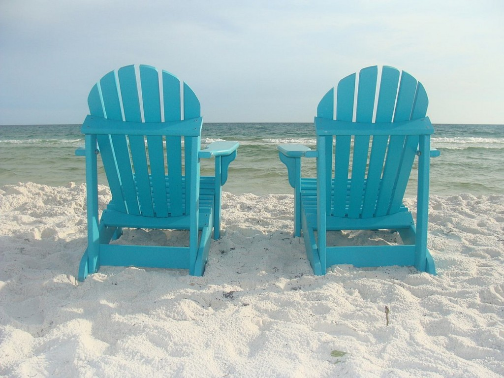 Adirondack Chairs On Beach Wallpapers