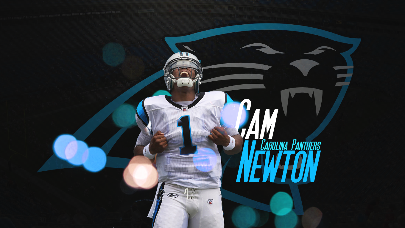 Cam Newton of the Carolina Panthers Wallpaper for Phones and Tablets 1360x768