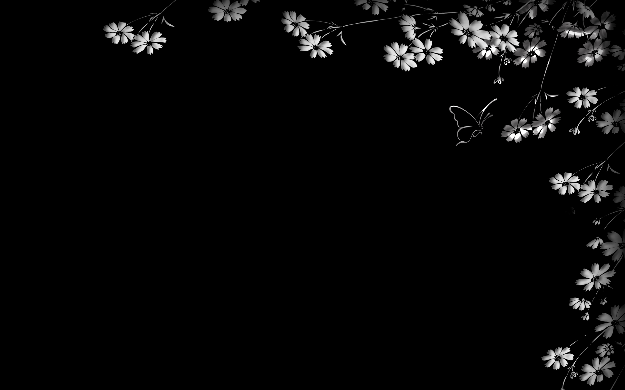 black flowers wallpaper 2015   Grasscloth Wallpaper 2560x1600