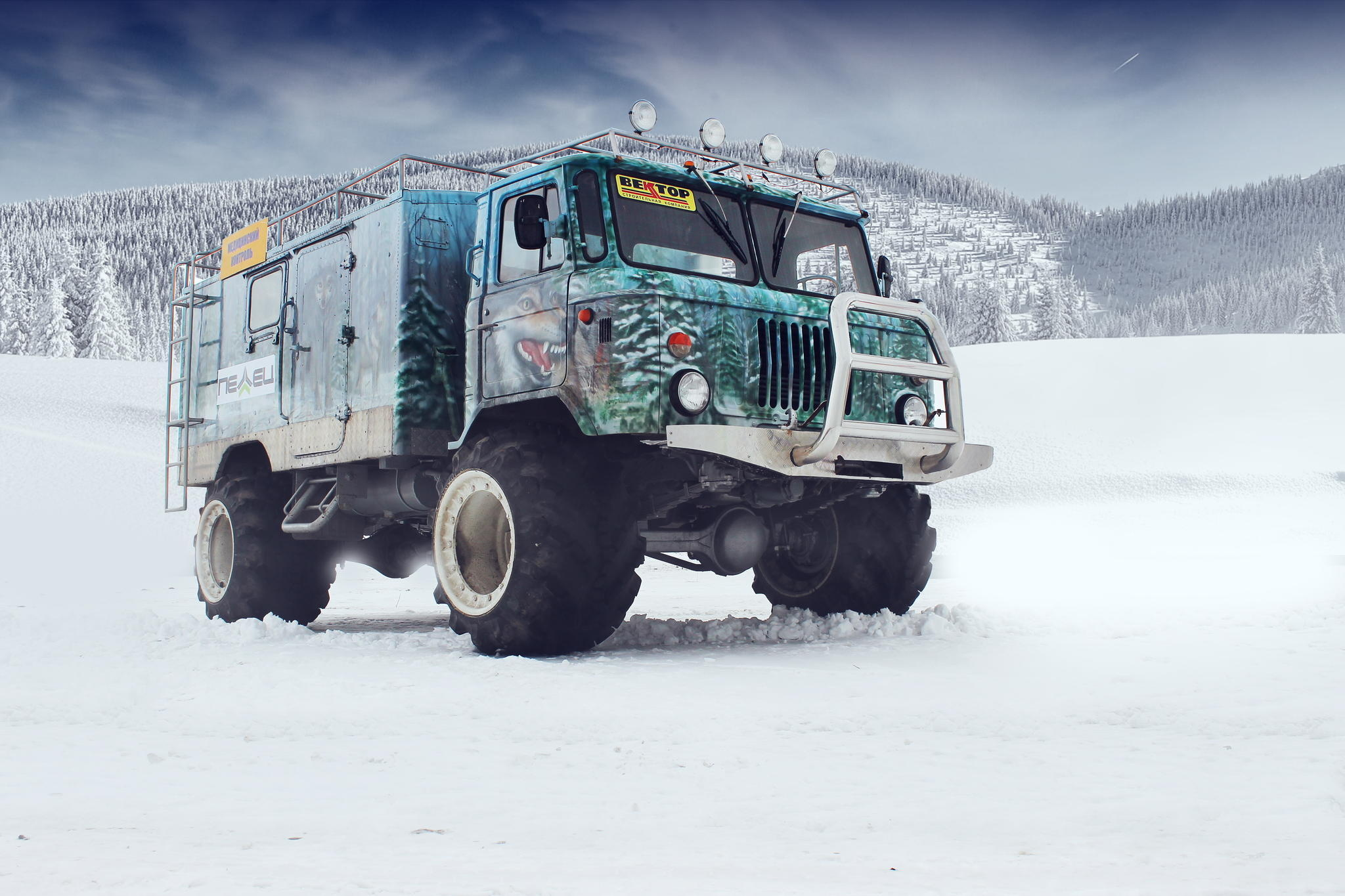 Gaz 66 Off Road Tuning Airbrush   Stock Photos Images HD 2048x1365