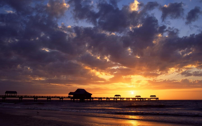 Wallpaper Beach Sunset Sky Line Background Wallpaper Gallery 1440x900