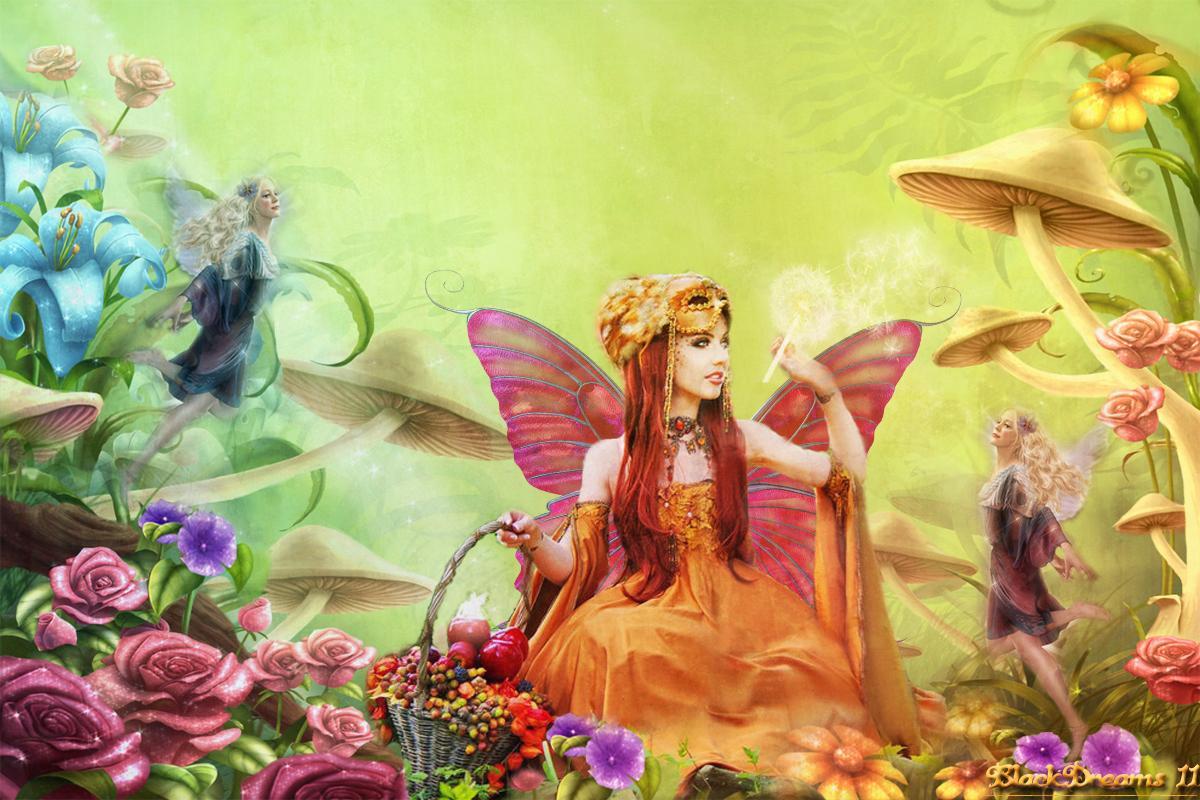 Spring Desktop Wallpaper Fairy Garden 1200x800