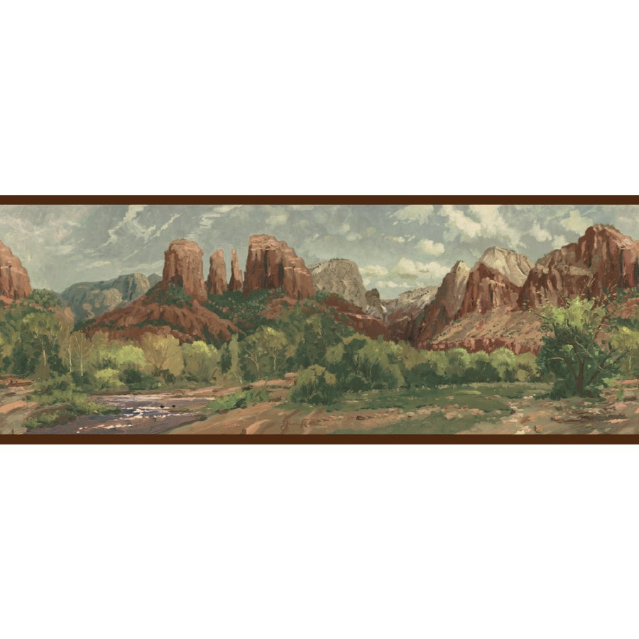 IMPERIAL 8 Scenic Mountain Prepasted Wallpaper Border at Lowescom 900x900