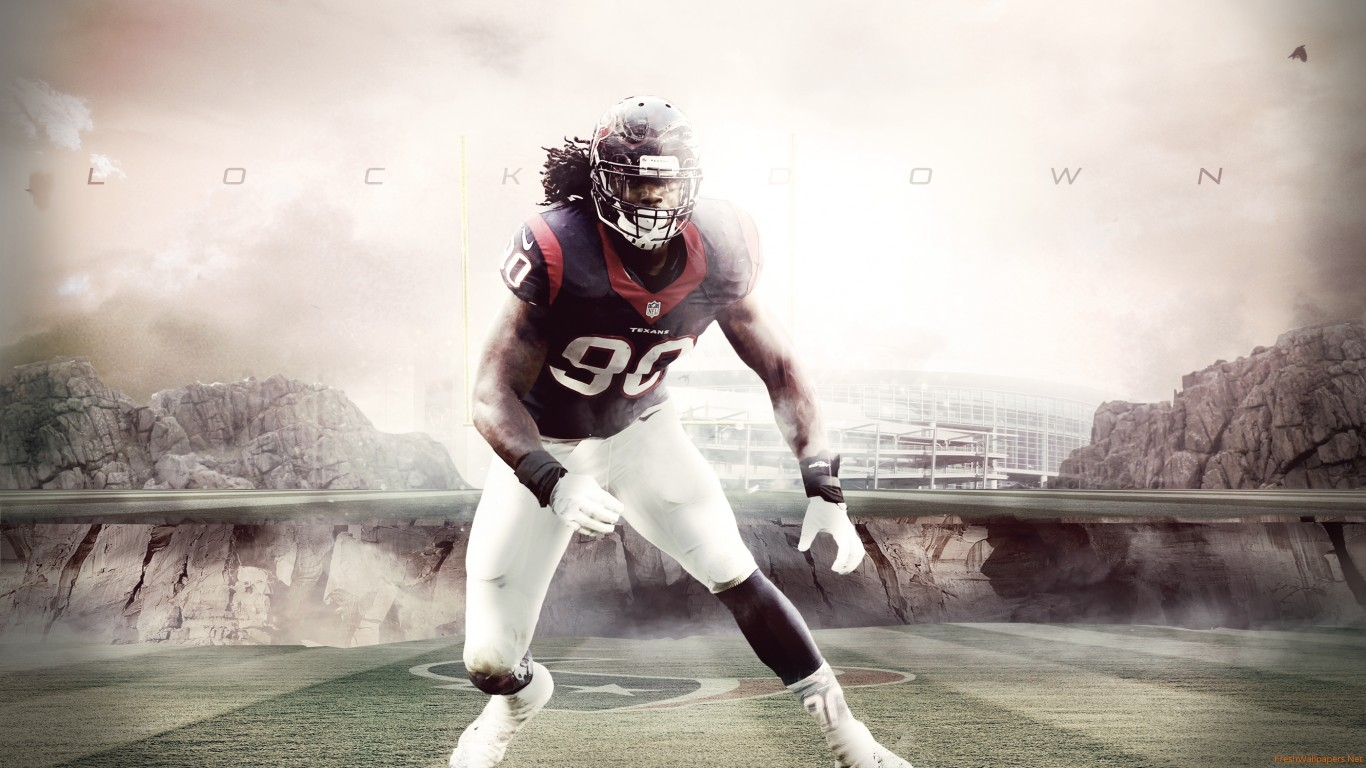 Jadeveon Clowney 2015 Houston Texans NFL wallpapers Freshwallpapers 1366x768
