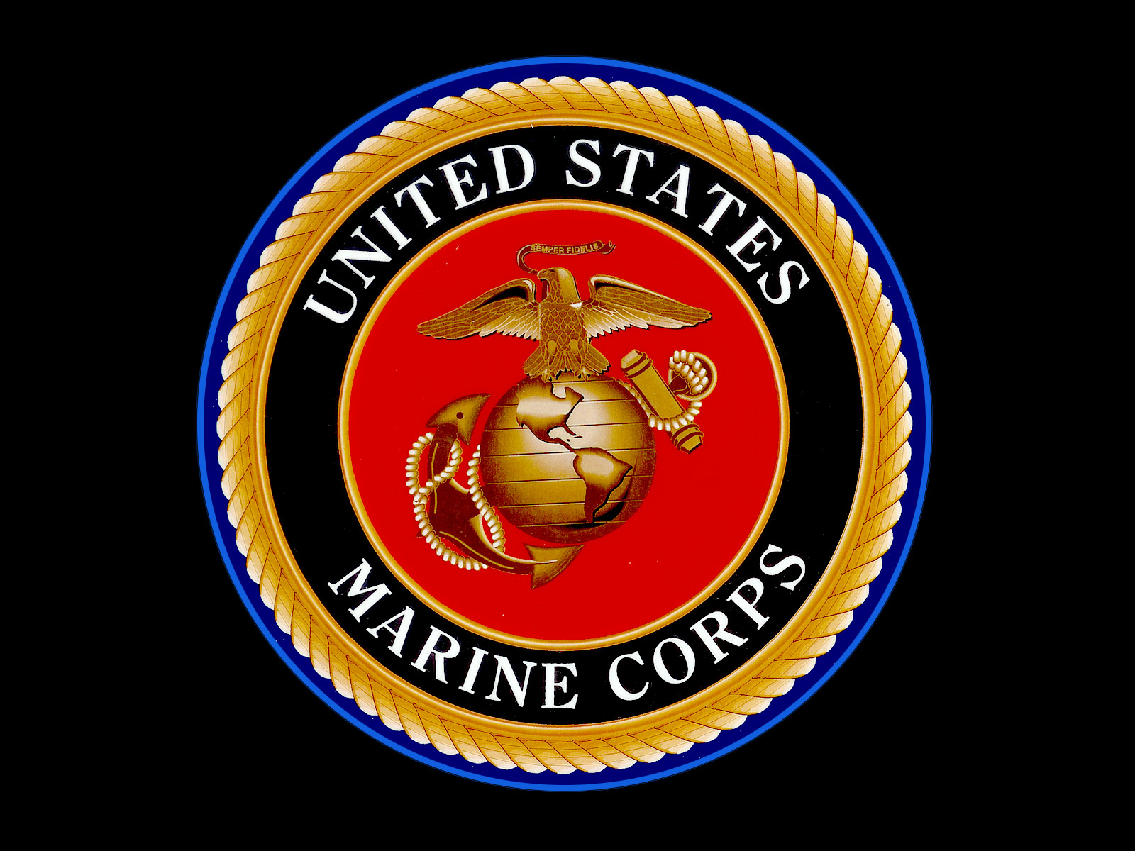 Go Back Images For Marines Logo Wallpaper 1600x1200