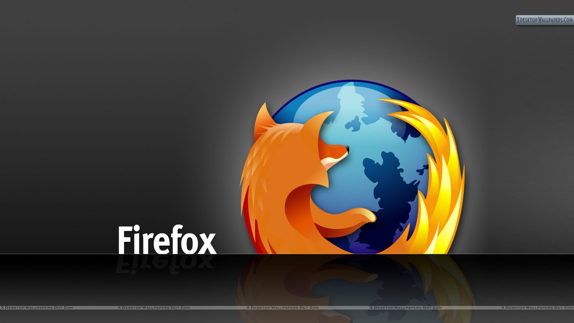 Firefox Awesome Desktop Wallpaper On Black Background Wallpaper 1920x1080