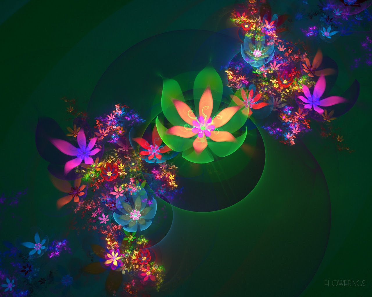 3D flower wallpapers for the nature lovers blog for everyone 1280x1024